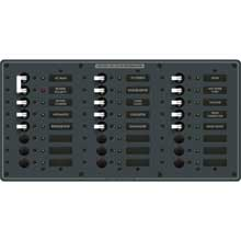 BLUE SEA 8565 breaker panel 230vac 24 pos