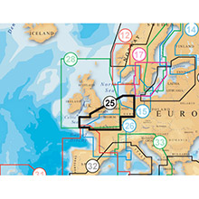 NAVIONICS EU West - UK South to Hamburg Platinum Marine Charts on SD Card