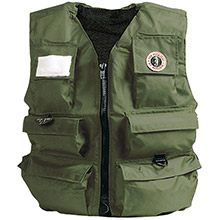 MUSTANG SURVIVAL Inflatable Fishermanfts Vest - Manual - XL - Olive
