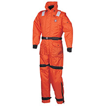 MUSTANG SURVIVAL Deluxe Anti-Exposure Coverall Worksuit - LG - Orange