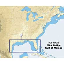 C%2DMAP NA%2DM420 Gulf of Mexico Bathy Chart %2D C%2DCard