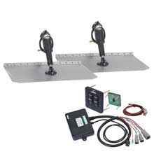 LENCO MARINE 12inch x 12inch trim tab kit w/ tactile switch