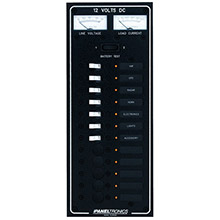 Paneltronics Standard DC 12 Position Breaker Panel w/LEDs