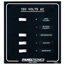 PANELTRONICS Standard AC 3 Position Breaker Panel Main w/LEDs