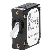 PANELTRONICS FtAft Frame Magnetic Circuit Breaker - 5 Amps - Single Pole