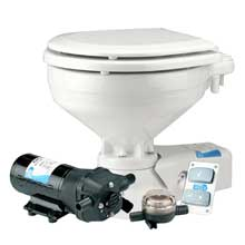 JABSCO Compact electric toilet w raw water intake supply pump
