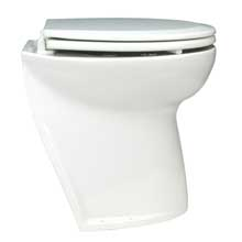 JABSCO Deluxe flush raw water electric toilet w/ angled back