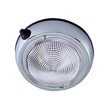 PERKO Surface Mount Dome Light - 5 inch - Chrome Plated