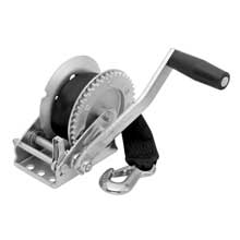 FULTON 1,500 lbs. single speed winch w/strap