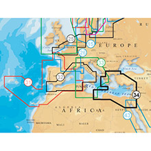 NAVIONICS EU Mediterranean East Platinum Marine Charts on Compact Flash