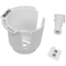 SCOTTY 311 drink holder w/bulkhead/gunnel mount rod holder post mount - white