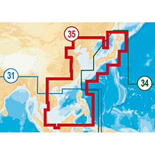 NAVIONICS Asia - South China Sea to Japan Gold Marine Charts on Compact Flash