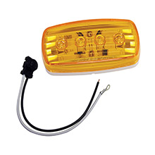 Wesbar Led clearance/side marker light - amber #58 w/pigtail