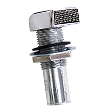 Whitecap Fuel vent - rectangular head, straight, 9/16 inch  hose