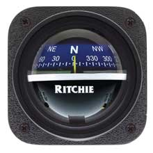 RITCHIE Explorer bulkhead mt compass blue dial