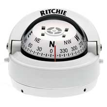 RITCHIE Explorer surface mount compass white