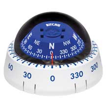 RITCHIE Kayaker surface mount compass white