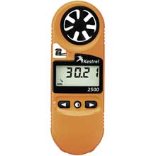 Kestrel 2500 pocket weather meter - orange