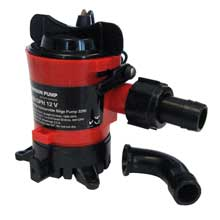 JOHNSON PUMP 1000 gph bilge pump 3/4inch 12v dura ports