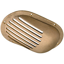 PERKO 3-1/2 inch x 2-1/2 inch Scoop Strainer Bronze MADE IN THE USA