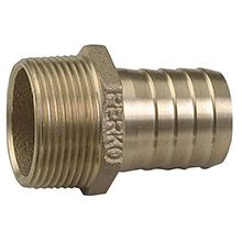 PERKO 1 inch Pipe To Hose Adapter Straight Bronze MADE IN THE USA