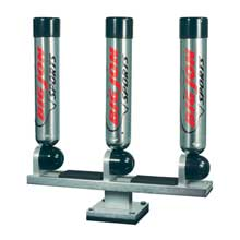 Big Jon Triple multi set rod holder pedestal mount silver