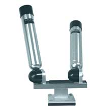 BIG JON Dual mounted multi axis rod holder silver