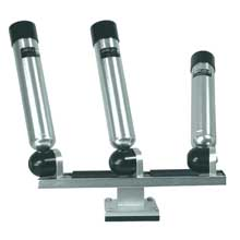 BIG JON Triple mounted multi axis rod holder silver