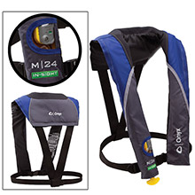 ONYX OUTDOOR M 24 In-Sight Manual Inflatable Life Jacket - Blue