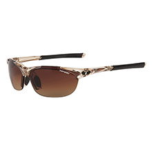 TIFOSI OPTICS Wisp interchangeable lens sunglasses - crystal brown