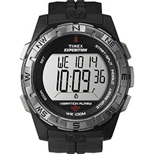 TIMEX Expedition vibrate alert watch - full size - black