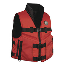 MUSTANG SURVIVAL Accel 100 Fishing Vest - Red/Black - X-Large