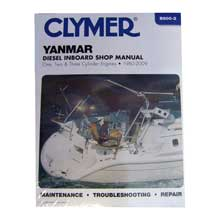 CLYMER Yanmar diesel inboard shop manual - one, two three cylinder engines (1980-2009)