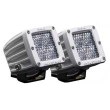 RI RIGID IND M-series - dually d2 led pair - 60 degree lens - diffused