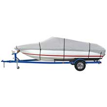 DALLAS MFG CO. 600 denier grey universal boat cover - model d - fits 17ft-19ft - beam width to 96inch