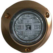 LUMITEC Seablazex %2D underwater light %2D bronze finish %2D blue fade and blue strobe