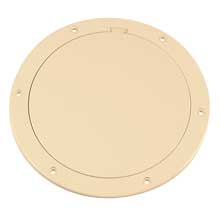 BECKSON 6inch smooth center pry out deck plate beige 6.5inch cut