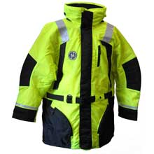 FIRST WATCH Hi-vis flotation coat - hi-vis yellow/black - large