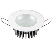 LUMITEC Mirage flush mount down light - glass finish/no bezel - white non dimming