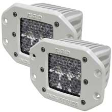 RI Rigid Ind M-series - flush mount - dually d2 led pair - 60 degree lens - diffused