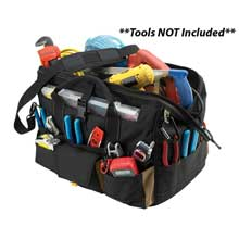 CLC Work Gear 1535 18inch   tool bag w/ top-side plastic parts tray