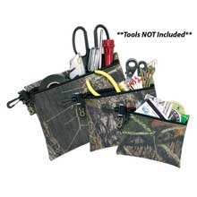 CLC WORK GEAR 1100m keepers mossy oak camo multi-purpose zippered bag set