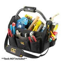 CLC WORK GEAR L234 tech gear led lighted handle 15inch open top tool carrier