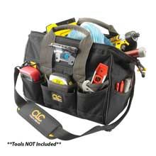 CLC Work Gear L230 tech gear led lighted 14inch   bigmouth tool bag