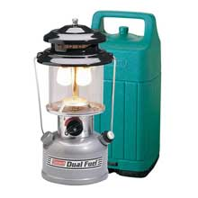 Coleman Premium dual fuel lantern w/hard carry case