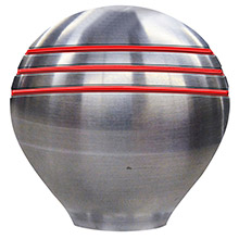 SCHMITT ONGARO Throttle knob - 1- 1/2 inch - red grooves