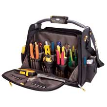CLC WORK GEAR L245 56 pocket tech gear light handle 18inch dual compartment tool carrier