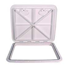 BECKSON 18x21 flush hatch white vertical or horizontal