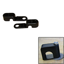 Weld Mount Single poly clamp f/1/4 inch  x 20 studs - 1/4 inch  od - requires 0.75 inch  stud - qty. 25