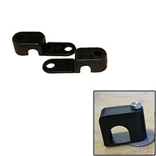WELD MOUNT Single poly clamp f/1/4 inch x 20 studs - 3/8 inch od - requires 1 inch stud - qty. 25